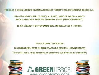 Campaña de reutilización de libros organizada por GreenLibros y TriCiclos