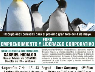 Gabriel Hidalgo en Foro de Emprendimiento y Liderazgo Corporativo de la EAN