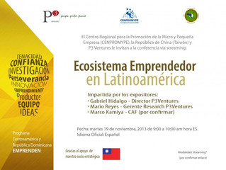 """Conferencia (vía streaming) """"Ecosistema Emprendedor en Latinoamérica"""""""
