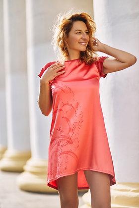 Color dress with paragliding prints