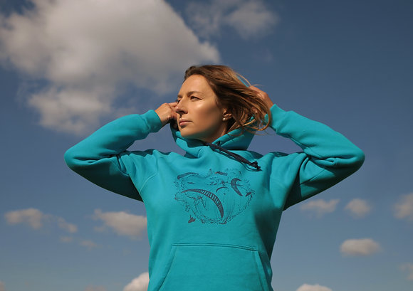 """Blue Hoodie """"Paragliding World's"""""""