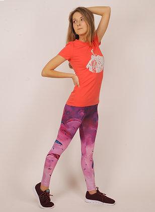 Leggings Purple fantasy