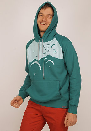 "Hoodie dark turquoise ""Mountains"""