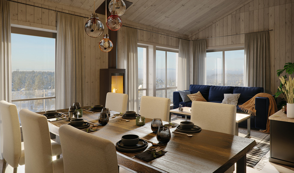 Stue/kjøkken, leilighet - Lygnagrenda
