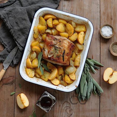 Rôti de porc boulangère aux pommes