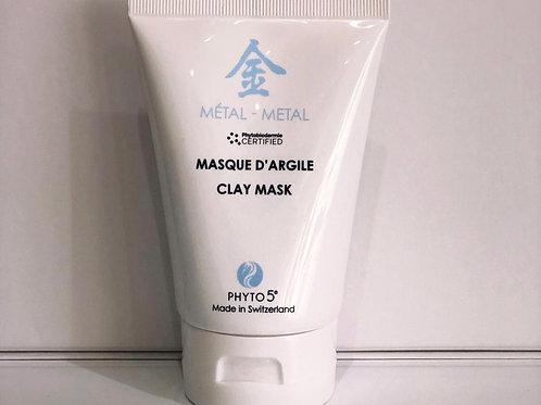 Masque d'argile blanche - Métal