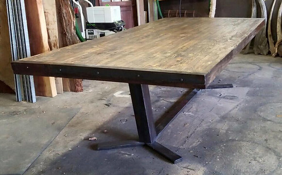 Industrial Butcher Block Style Tables