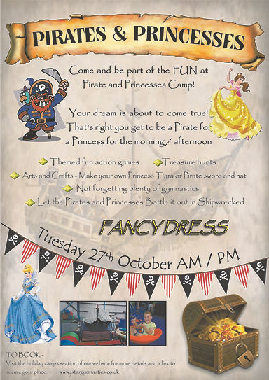 Pirate and princesses camp sept 2020 for