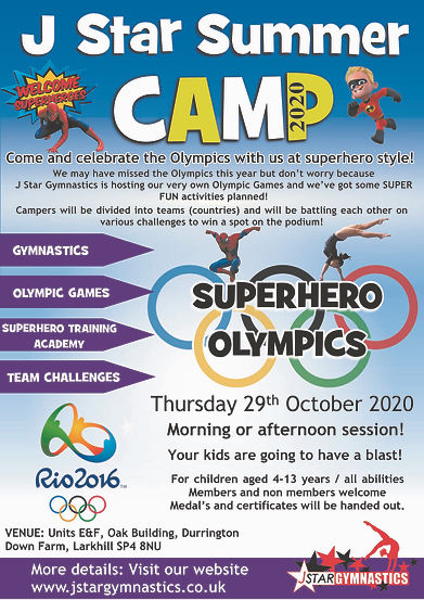 Superhero Olympics camp sept 2020 for fa