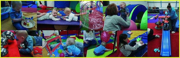 baby gym strip collage photoshop website