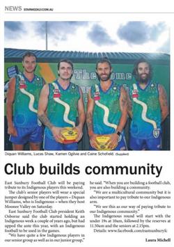 Club builds community - Star Weekly
