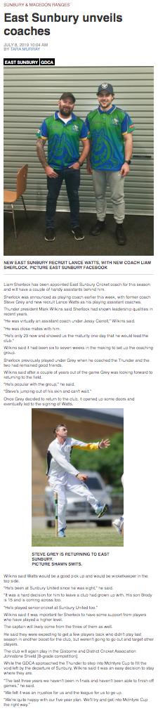 East Sunbury unveils coaches