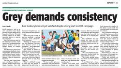 Grey demands consistency - Sunbury leader