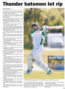Thunder batsmen let rip - Star Weekly