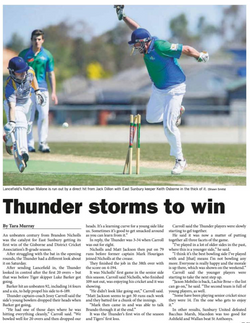 Thunder storms to win - Star Weekly