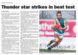 Thunder star strike in best test
