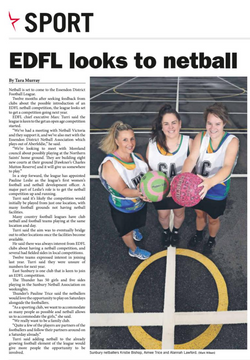 EDFL looks to netball - Star Weekly