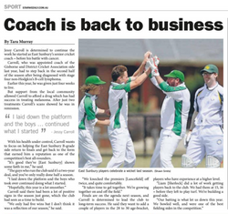 Coach is back to business - Sunbury and Macedon Ranges Star Weekly