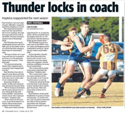 Thunder locks in coach