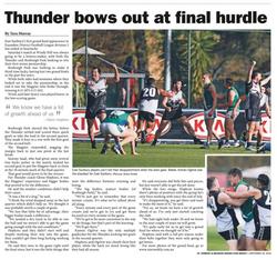 Thunder bows out at final hurdle