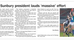 "East Sunbury president lauds ""massive"" effort"