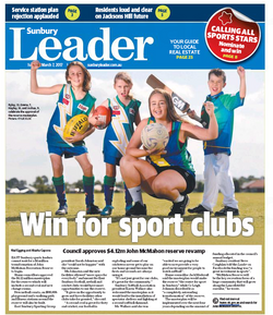Win for sport clubs Sunbury Leader