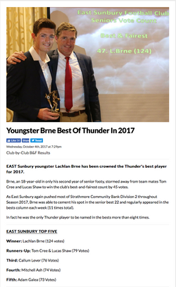 Youngster Brne Best Of Thunder In 2017 - EDFL News
