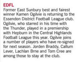 Sports Shorts - EDFL - Star Weekly