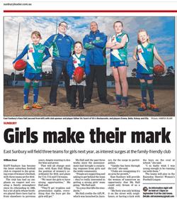 Girls make their mark - Sunbury Leader