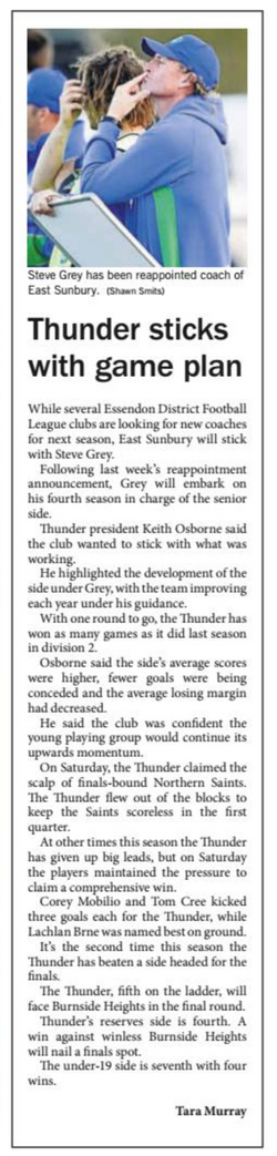 Thunder sticks with game plan - Star Weekly