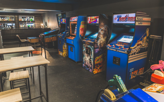 Arcade and seating