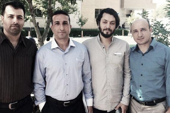 Pastor Yousef Nadarkhani (tweede van links) is één van de christenen die in de afgelopen maanden zijn gearresteerd en veroordeeld.