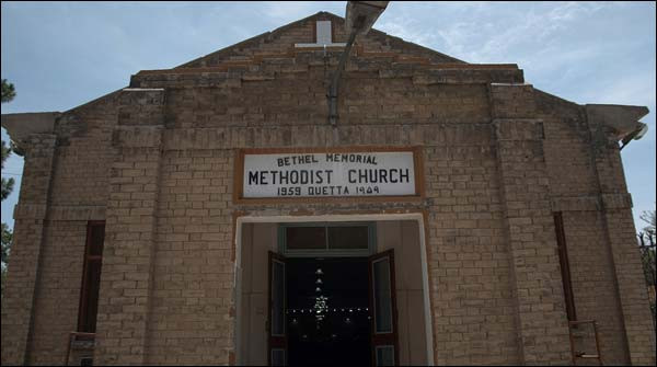 Negen christenen kwamen om bij een zelfmoordaanslag op de Methodistenkerk in Quetta.