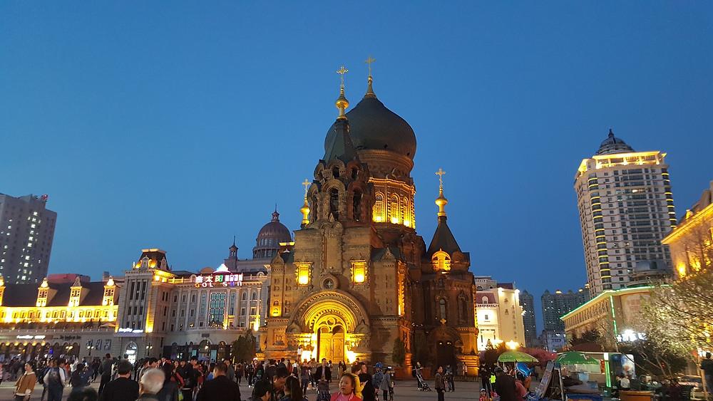 Een oude kerk in China