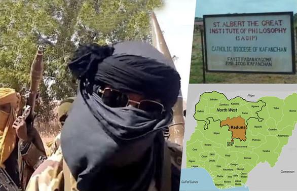 Zes gewonden en drie studenten ontvoerd na aanval op seminarie