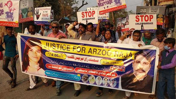 In actie tegen ontvoering, gedwongen bekering en uithuwelijking van minderjarige meisjes in Pakistan