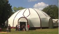 L'Amarante de babel-Gum, chapiteau atypique, dôme structure autoportée, sans ancrage au sol, grill technique exceptionnel, nombreuses configrations