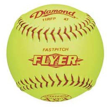 "DIAMOND SOFTBALL 11"" FASTPITCH ASA, SYNTHETIC"