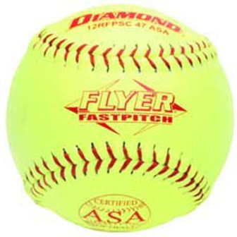 "DIAMOND SOFTBALL 12"" FASTPITCH ASA, SYNTHETIC"