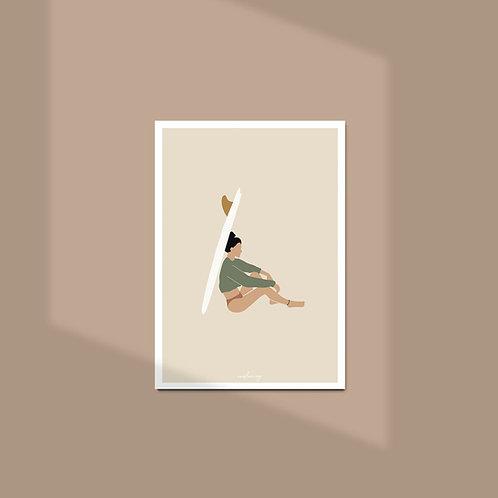 Affiche / Poster A4 - Surfer girl