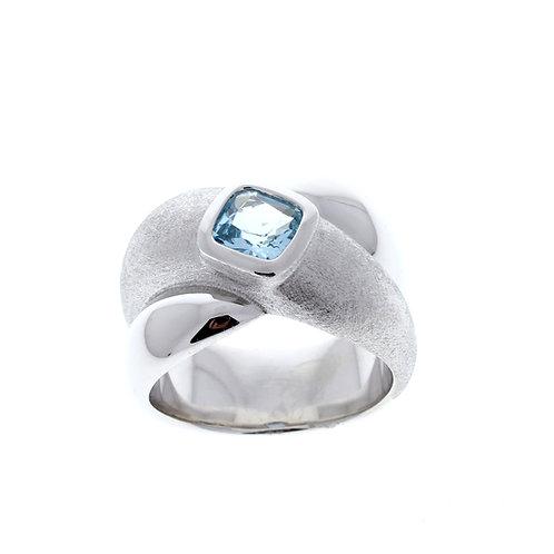 Blue Topaz Criss Cross Ring