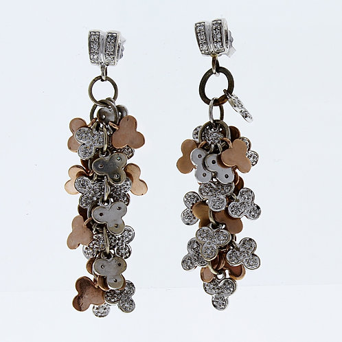 Tri-Color Dangle Earrings