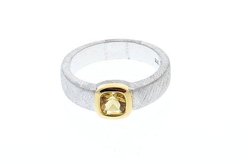 Tension Set Citrine Ring