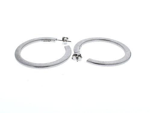 Extra Large J Hoop Earrings