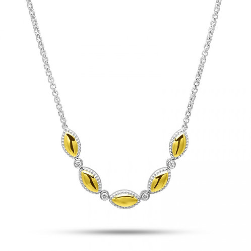 Charles Krypell Yellow Firefly Diamond Necklace