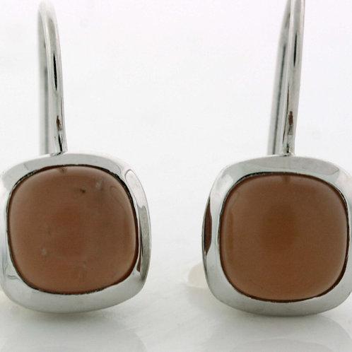 Champagne Moonstone Cabochon Earrings