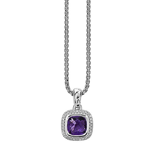 Charles Krypell Ivy Square Amethyst Necklace