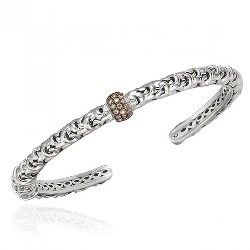 Charles Krypell Ivy Brown Diamond Station Bracelet