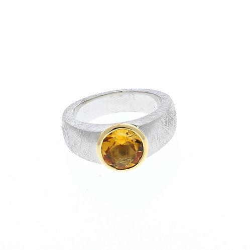 Citrine Bezel Set Ring