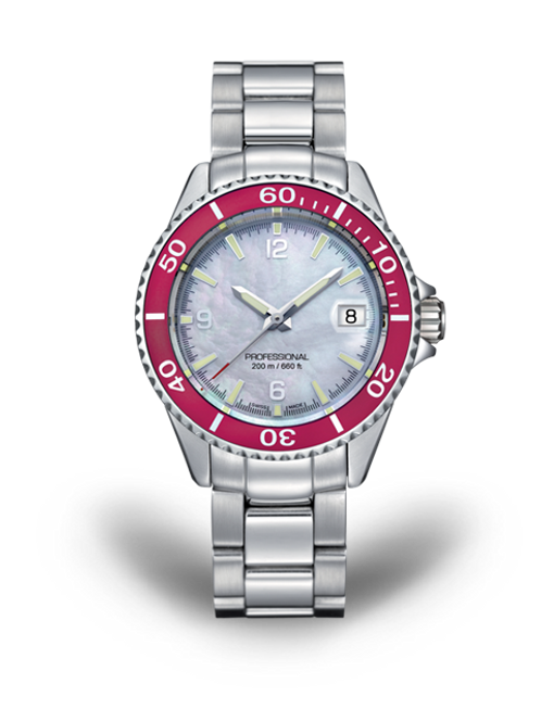 Tavannes Ladies Ocean Edge Pink Bezel